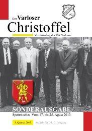 Christoffel Nr. 24, 3. Quartal 2013 - und Crosslauf in Varlosen