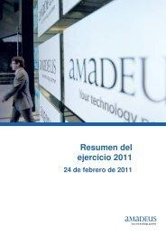 Resumen del ejercicio 2011 - Investor relations at Amadeus