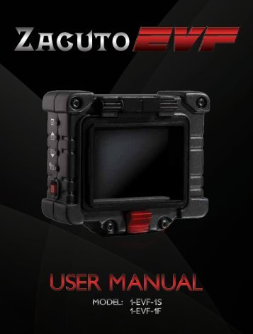 Zacuto EVF Operation Manual - ZTV Broadcast Services Inc.