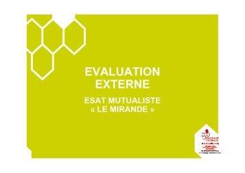 Expérience évaluation externe S.Bonnet - ARS Bourgogne