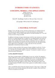 INTRODUCTORY STATISTICS: CONCEPTS, MODELS, AND ...
