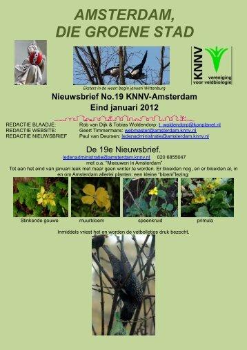 Nieuwsbrief 19 - KNNV Vereniging voor Veldbiologie