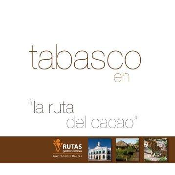 folleto tab - Rutas Gastronómicas