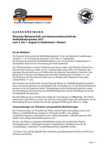 Werner Hoffarth Uwe Schneider - Hessischer Luftsportbund eV