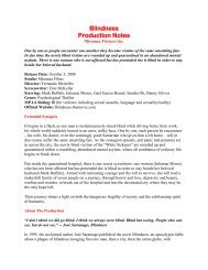 Production Notes PDF - Visual Hollywood