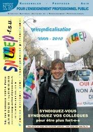 POUR L'ENSEIGNEMENT PROFESSIONNEL PUBLIC - Le Snuep