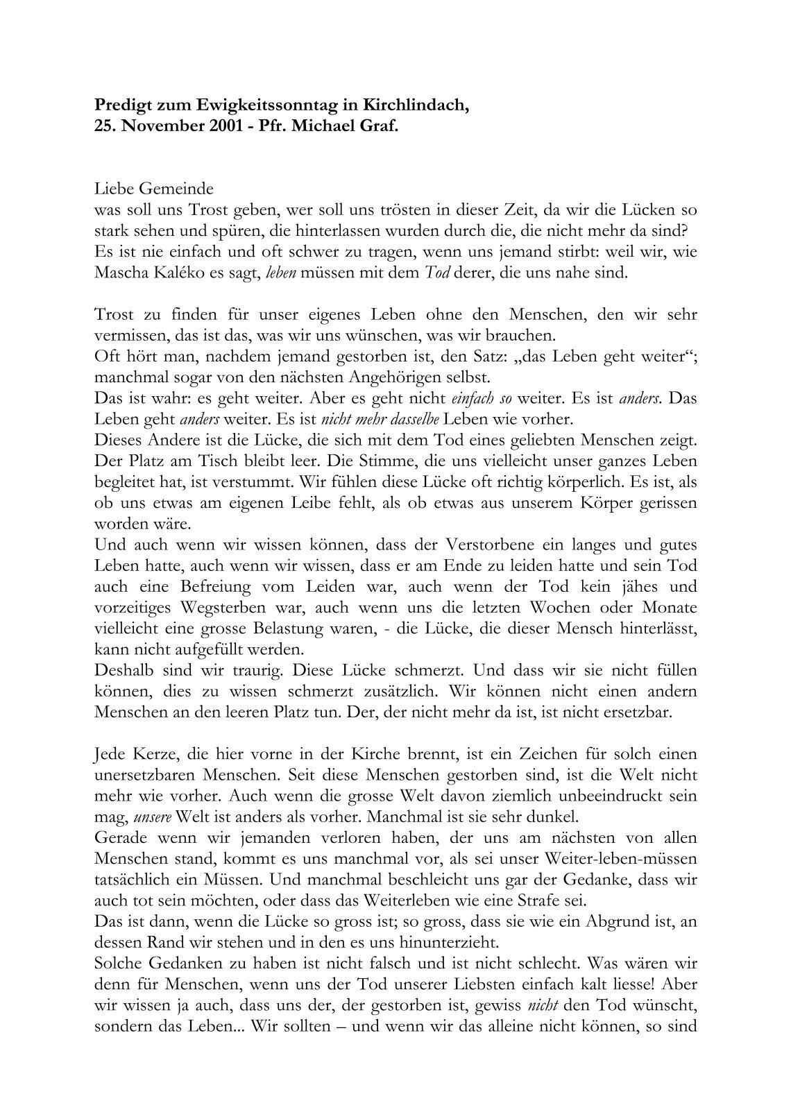 Traupredigt 1 kor 13 13