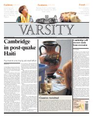Cambridge in post-quake Haiti - Varsity