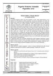 Progetto Formativo Aziendale Programma corso
