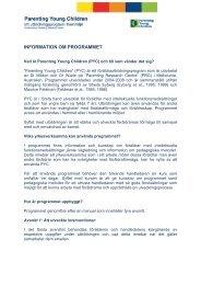 Sammanfattad information om programmet - Landstinget i Uppsala län