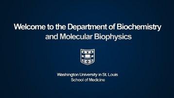Untitled - Department of Biochemistry and Molecular Biophysics