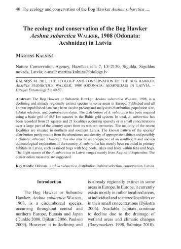 download - Entomological Society of Latvia - Latvijas Daba
