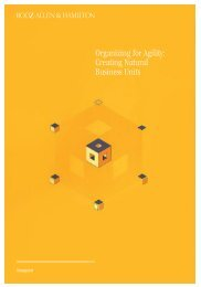 Organizing for Agility: Creating Natural Business Units - Booz Allen ...