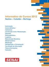 Informativo de Cursos 2012 - Senai