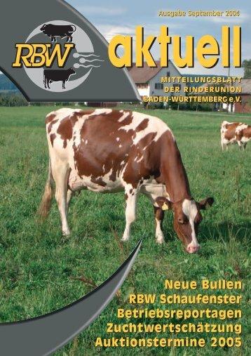 RBW aktuell September 2004 - Rinderunion Baden-Württemberg e.V.