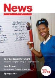 Spring News 2013 - Beating Bowel Cancer