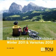 Reisen für Mountainbiker - BiTou Bike Touren