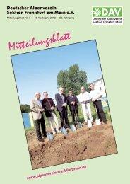 Mitteilungsblatt 3 / 2012 - DAV Sektion Frankfurt/Main