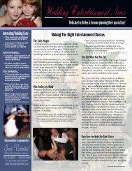 Newsletter Inside - Spirit Unlimited Professional DJ Entertainment
