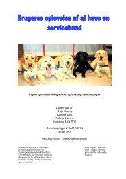 Brugeres oplevelse af at have en servicehund
