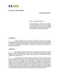 Nota Técnica nº 49/2013-SRE/ANEEL