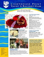 valentines week dinner - Lighthouse Point Yacht and Racquet Club