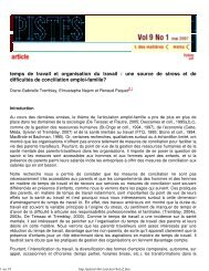 (PISTES \251 Vol. 9 No. 1 Mai 2007 -- Recherche) - Comprendre ...