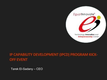 ip capability development (ipcd) program kick- off event - TIEC