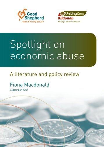 Spotlight on economic abuse - Kildonan UnitingCare