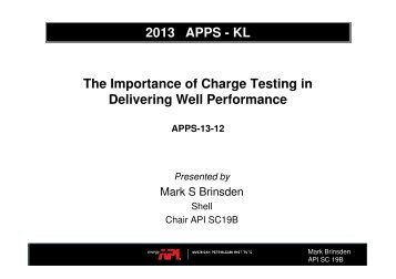 The Importance of Charge Testing in Delivering ... - Perforators.org