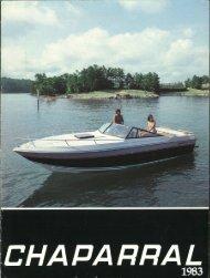 1983 Chaparral Boats Brochure