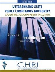 Uttarakhand State Police Complaints Authority - Commonwealth ...
