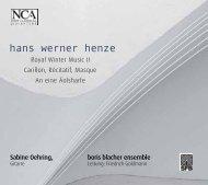 hans werner henze - nca - new classical adventure