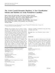 The Arctic Coastal Dynamics Database: A New Classification ...