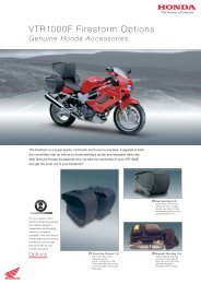 VTR1000F Firestorm Options - Doble Motorcycles