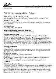 Hauptversammlung 2006 - Protokoll - Astronomische Jugendgruppe ...