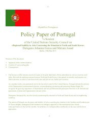 Policy Paper of Portugal - ViaMUN
