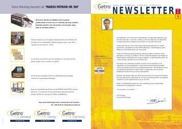 Getra Newsletter 6 - van aerden group