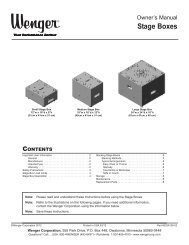 Stage Boxes - Wenger Corporation