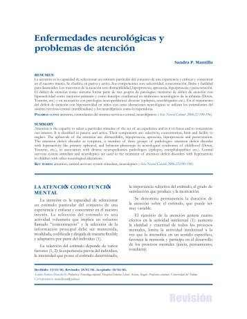 Enfermedades neurológicas y problemas de atención - Asociación ...