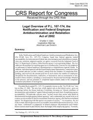 Legal Overview of P.L. 107-174, the Notification and ... - MSPB Watch