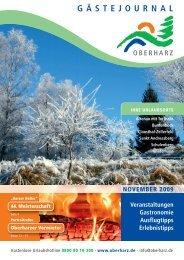 Gästejournal November 2009 (PDF) - Der Oberharz