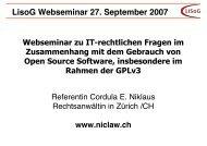 LisoG Webseminar 27. September 2007 - niclaw