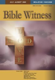 Godly Love - Bible Witness