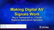 Making Digital AV Signals Work - The SUNY Technology Conference