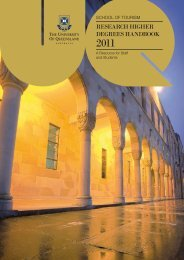 research higher degrees handbook - School of Tourism - University ...