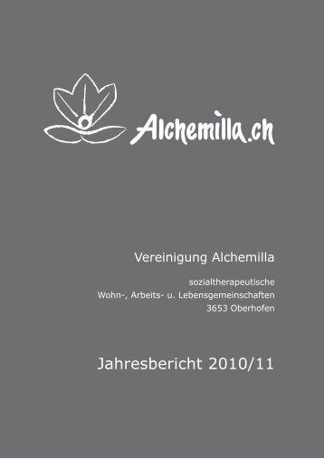 Jahresbericht 2010-11 - Alchemilla