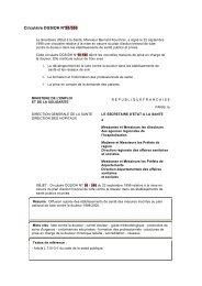 Circulaire DGS/DH N°98/586 - Ministère des Affaires sociales et de ...