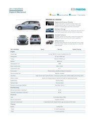 MazdaUSA __ MAZDA5 5-Door Features and Specifications __ Best ...
