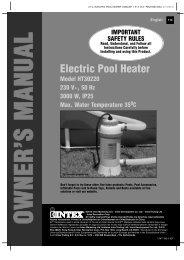 Download Intex 3kw Electric Heater User Manual ... - UK Pool Store